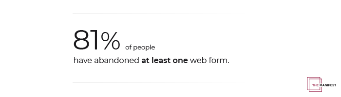 81% of people have abandoned a web form.