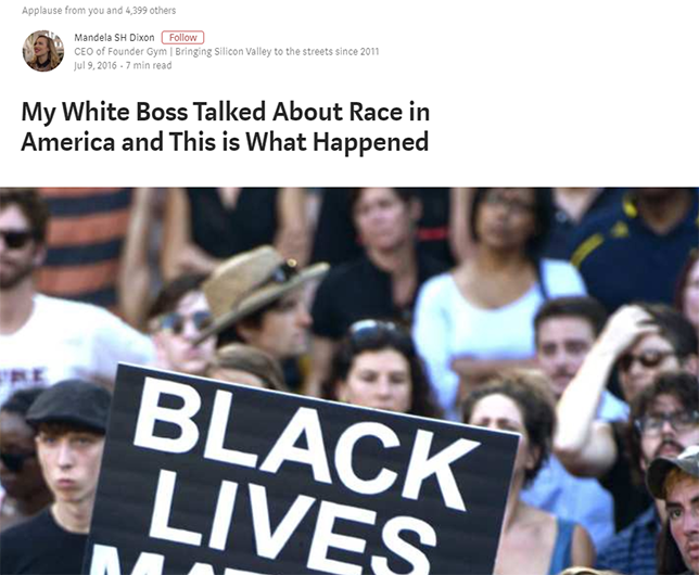 My White Boss Talked About Race in America and This is What Happened