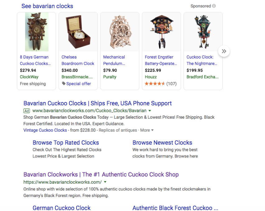 Bavarian Clockwork Google Rank