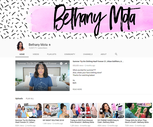 Bethany Mota screenshot