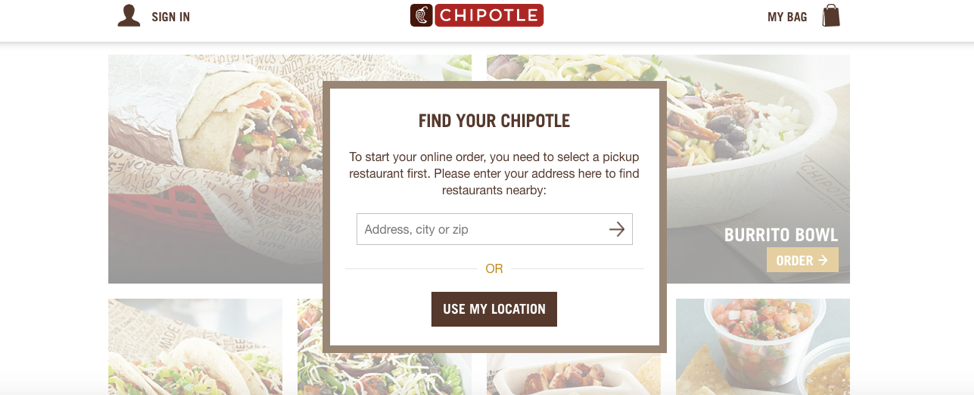 Chipotle Order Ahead