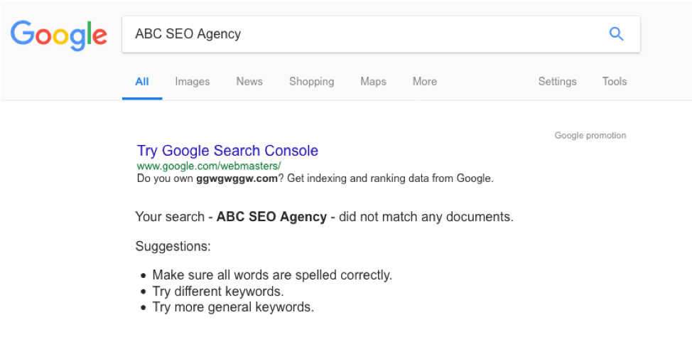 Google SEO agency search
