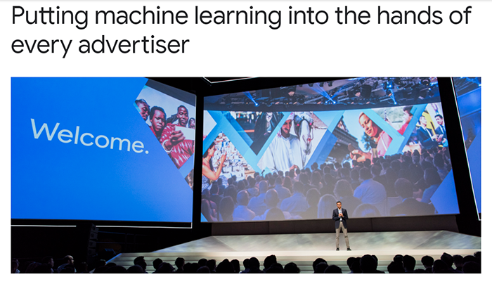 Google machine learning announcement image