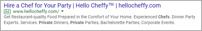 Hello Cheffy retargeting advertisement