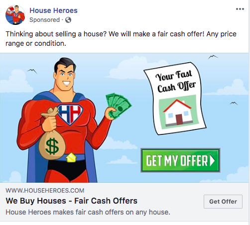 House Heroes Facebook advertisement