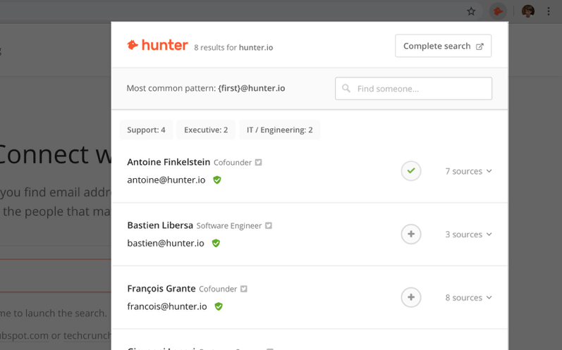 hunter for email
