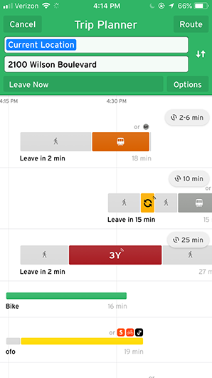 Transit app screenshot 1