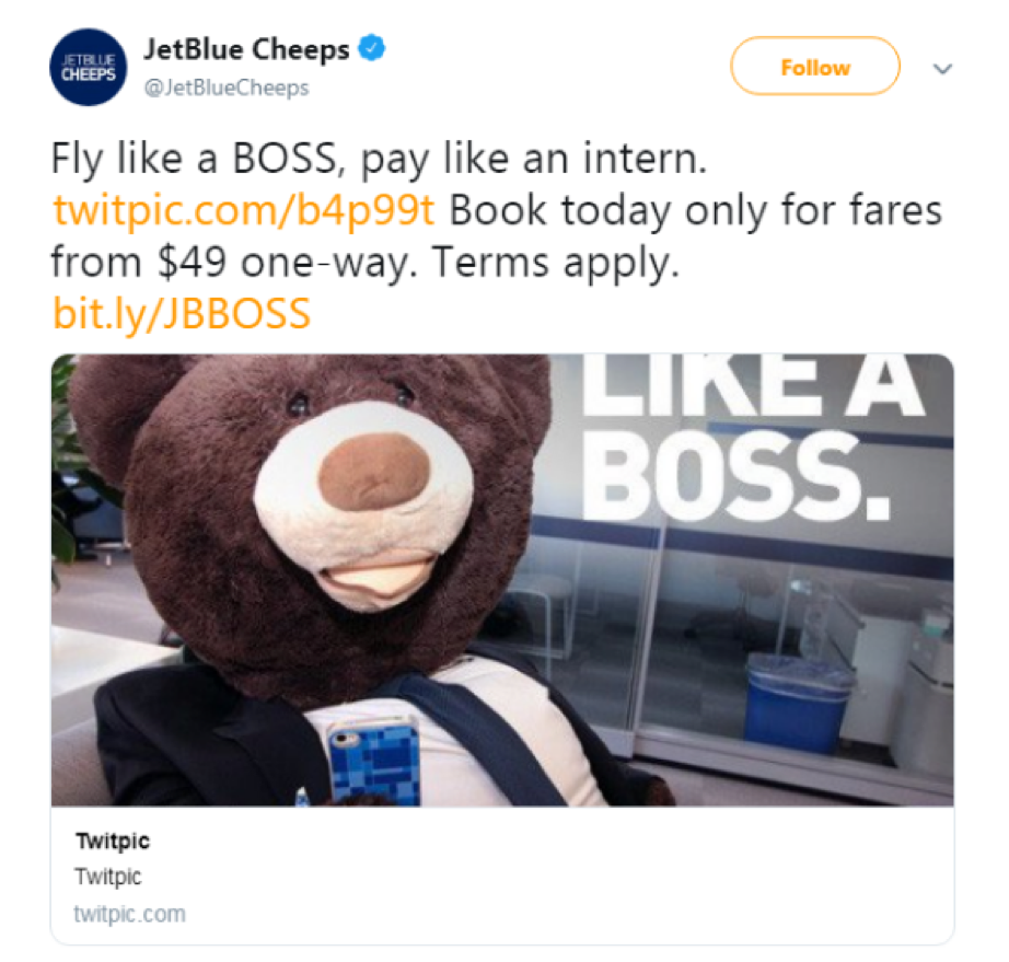 jet blue fly like a boss