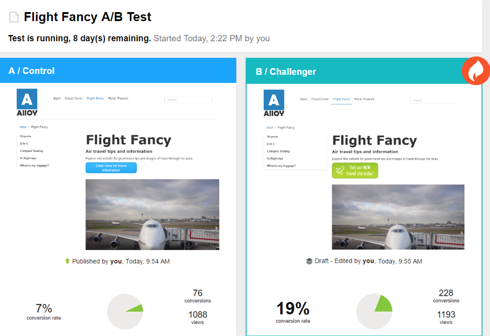 A/B split tests can help you determine which design is most effective and user friendly.