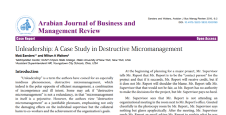 Micromanagement Case Study