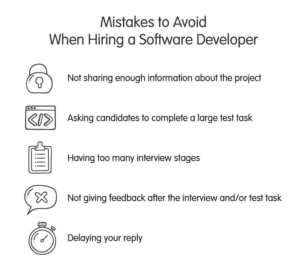 mistakes to avoid when hiring a software developer