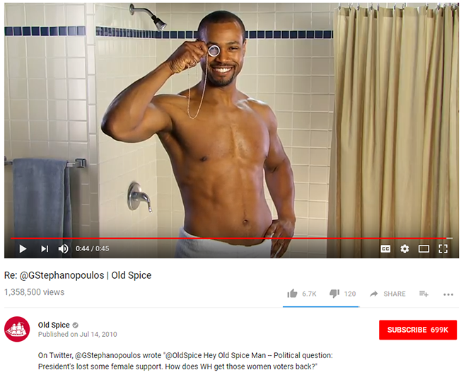Old Spice video 2