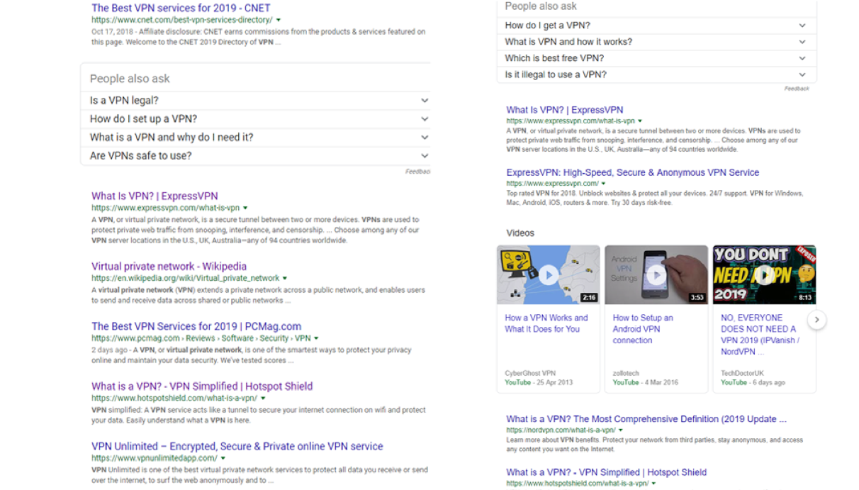 Rankings for the same keyword can be dramatically different depending on where the search is coming from.
