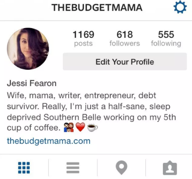 Jessi Fearon shows personality in her Instagram bio.