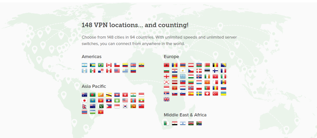 By choosing a VPN with a lot of different locations, you can view the SERP rankings in more countries.