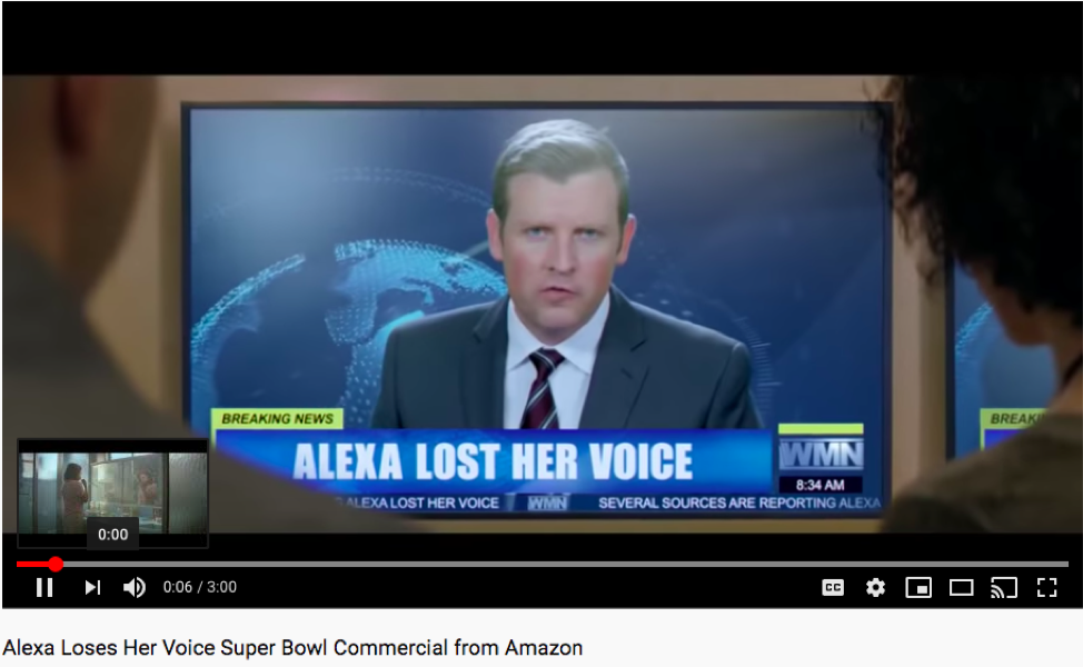 "The commercial ""Alexa Loses Her Voice"" said ""Alexa"" 10 times, but didn't set off anyone's Amazon Echo."