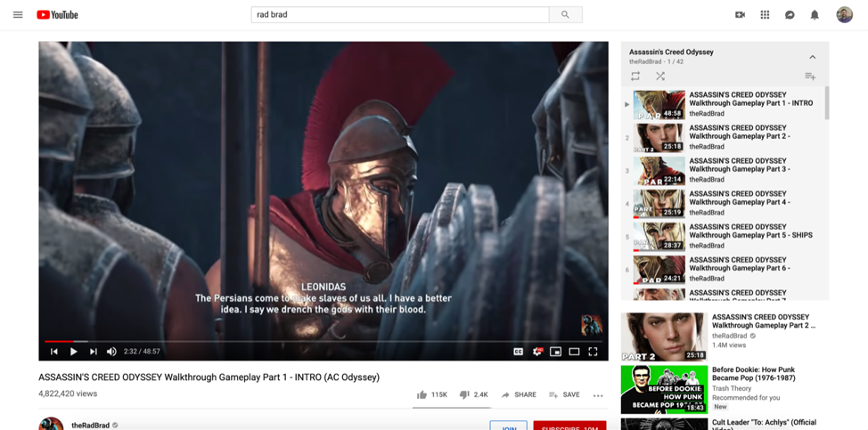Clark uses YouTube to watch play-throughs of video games before purchasing them