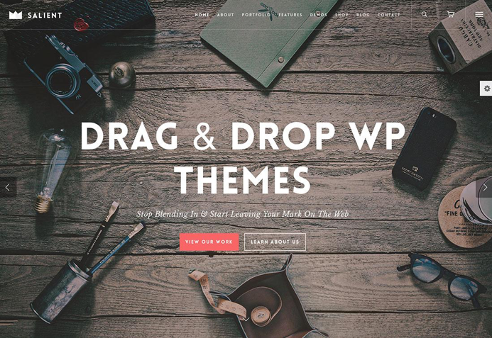 Salient WordPress drag and drop