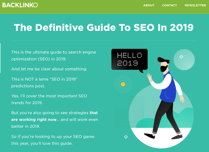 Backlinko Definite Guide to SEO in 2019
