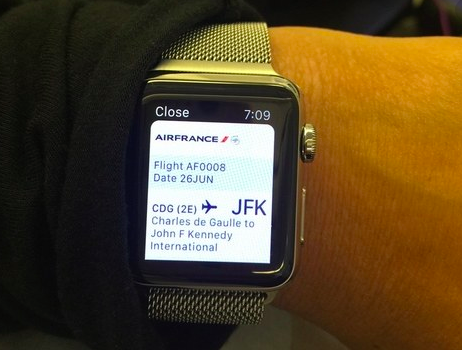 Apple Watch Plane Ticket