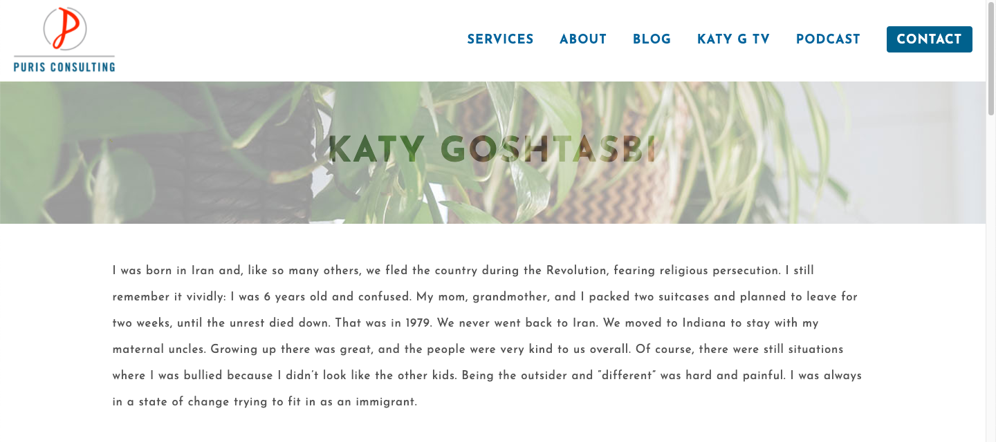 Katy Goshtasbi personal website