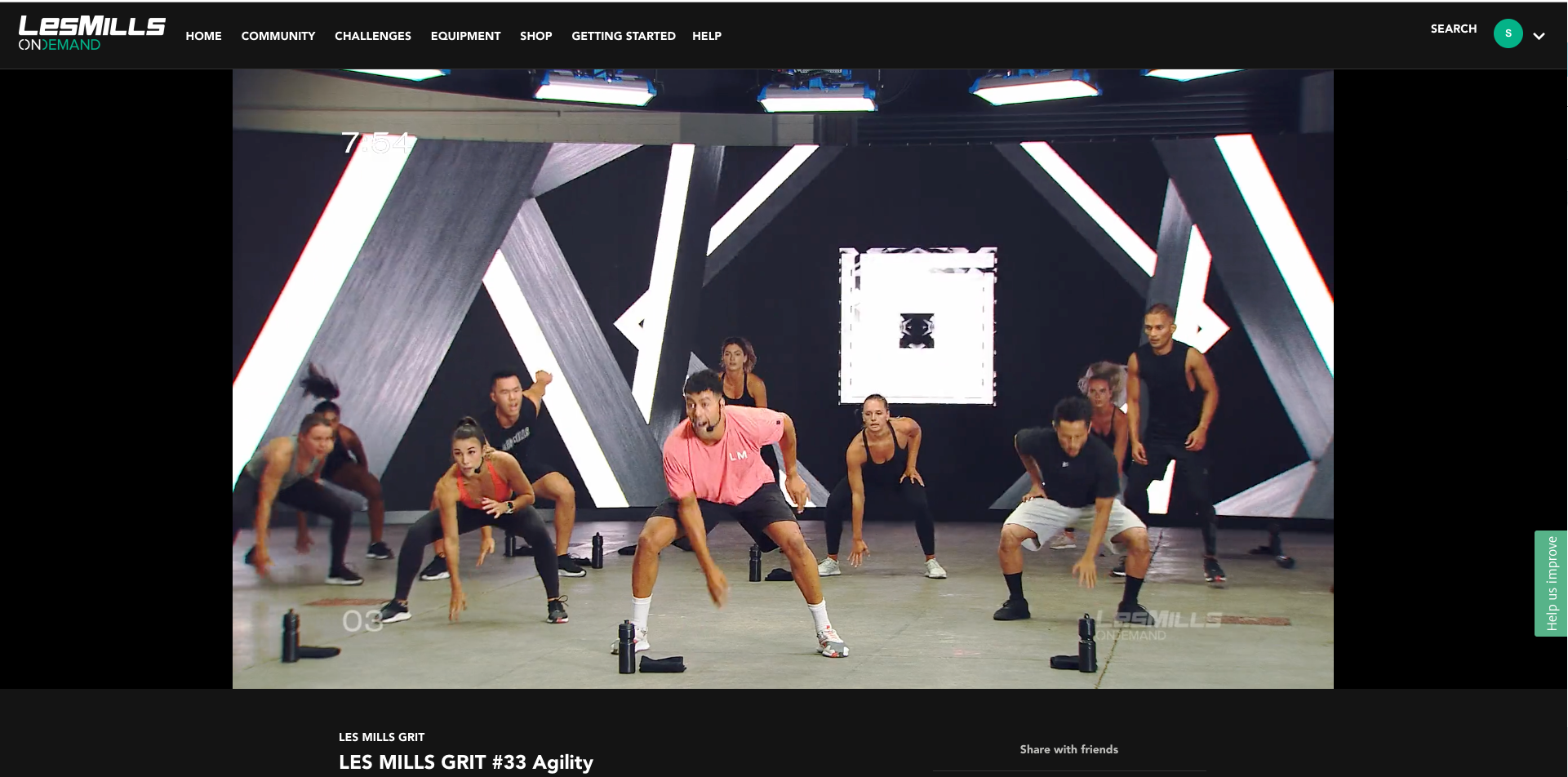 LES MILLS offers webcasts of in-person gym classes