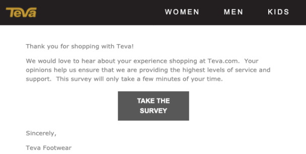 Sending consumers surveys after receiving their purchases is an effective way to collect feedback.