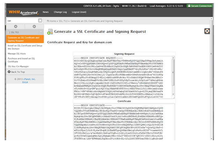 Generate SSL Certificate and Signing Request 2
