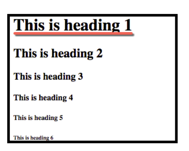 Header size example