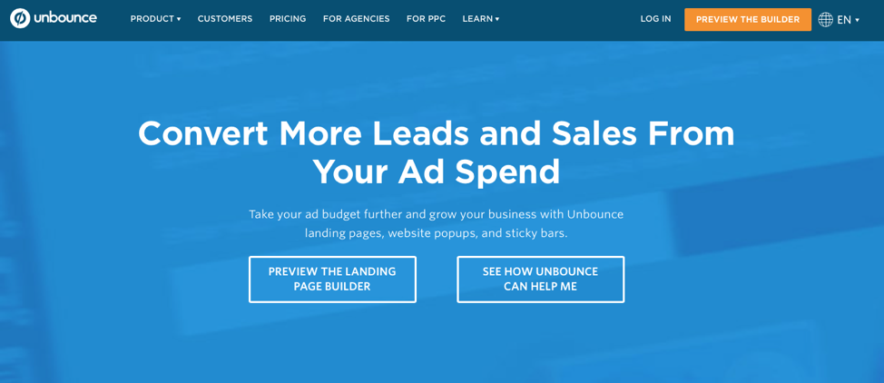Unbounce value proposition