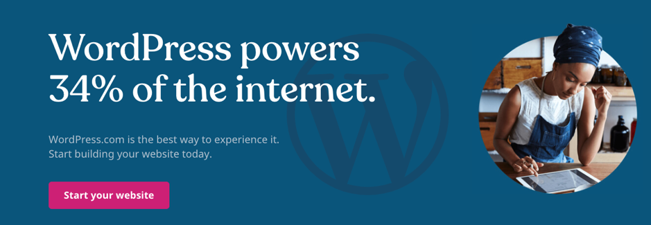 WordPress powers 34% of internet