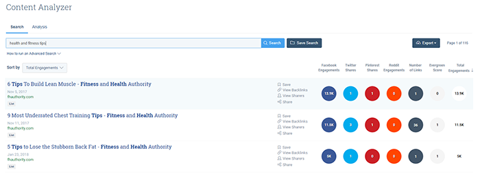 Buzzsumo screenshot 1