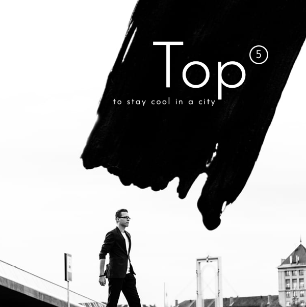 company magazine example cover with top 5 ways to stay cool in the city