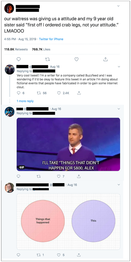 People call out fakes news using comments and memes.