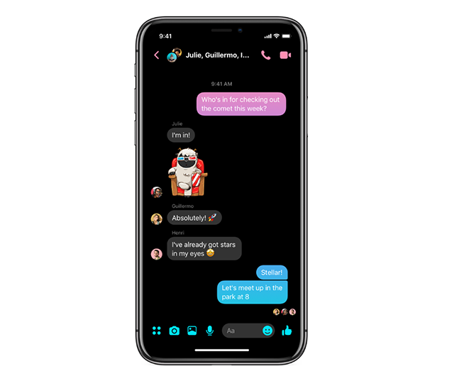Facebook Messenger colorization