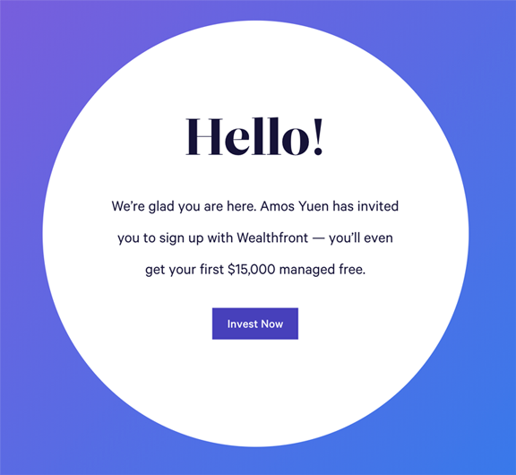 Wealthfront example