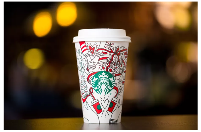 2017 Starbucks holiday cups