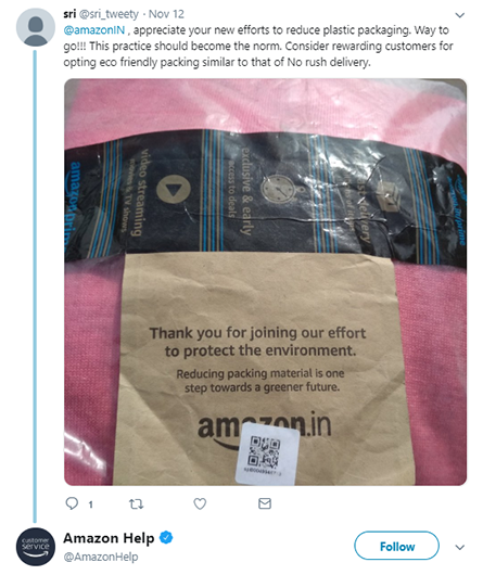 Amazon packaging tweet