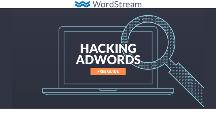 screenshot of landing page ad from WordStream