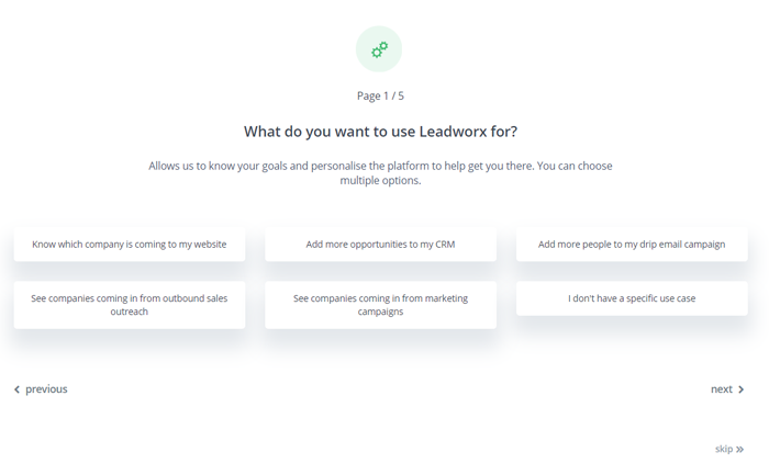 Leadworkz uses interactive approach to show new app user how to take advantage of app features