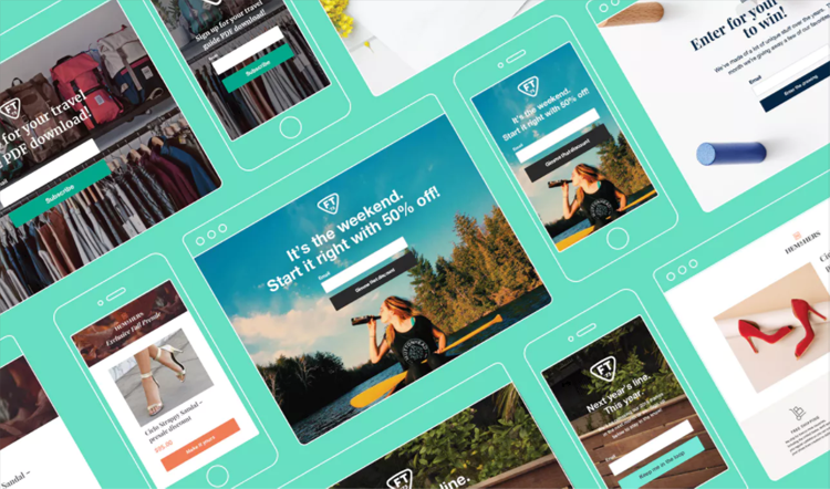 MailChimp landing pages in Product Hunt