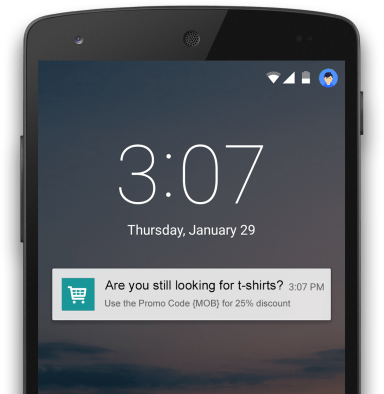 Targeted push notification example