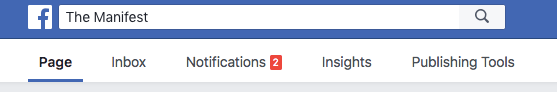 Facebook Insights tab in business profile menu
