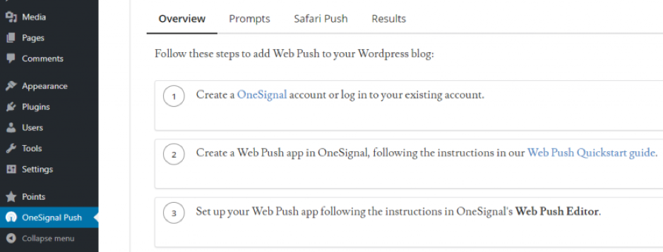 onesignal push notification step 2