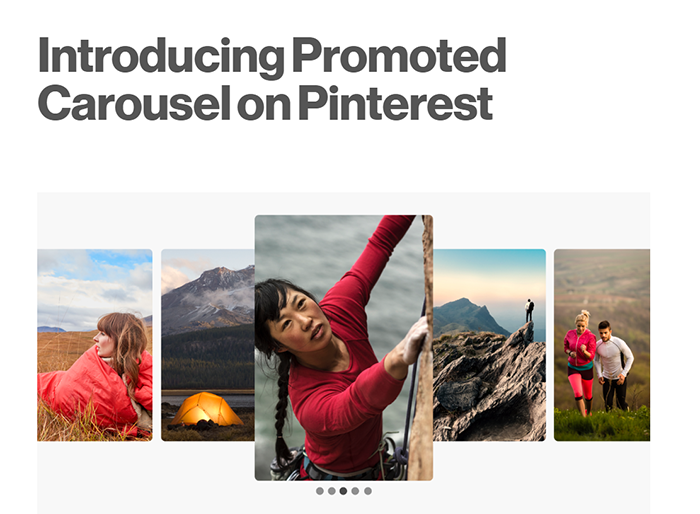 Promoted Carousel on Pinterest