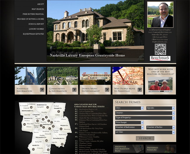 real estate agent's QR code on local real estate company's website