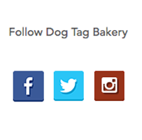 social icons in footer of small business website