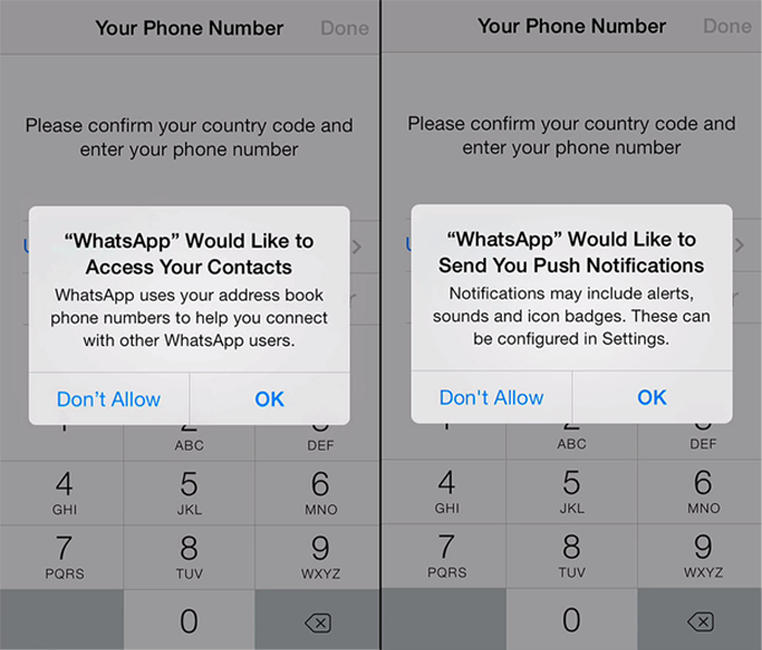 Whatsapp walks users through an in-depth account setup process for onboarding
